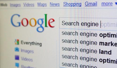 Tela de pesquisa do Google.